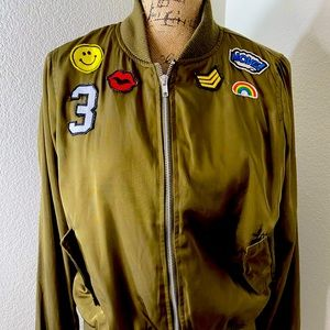 BSweet Bomber Jacket in Olive Green